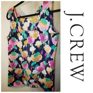J. Crew Floral Wrap Spring Summer Tank Top